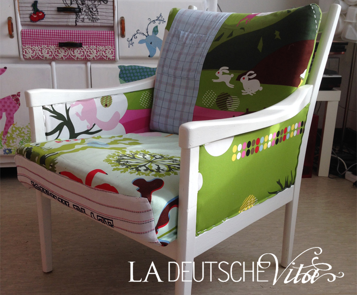 patchwork sessel la deutsche vita. Black Bedroom Furniture Sets. Home Design Ideas